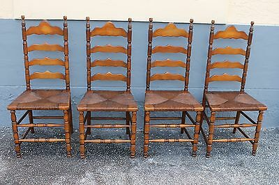 S/4 EARLY AMERICAN style PINE SIDE CHAIRS, circa 1930's