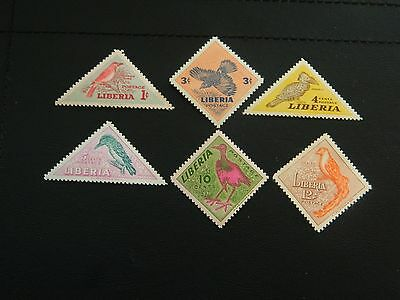 Liberia Stamp SG 735/740 complete set  6 MNH issued 1953 values 1c to 12c Birds.