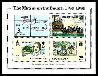 Pitcairn Is:1989:Mutiny on the Bounty 1789-1989,M/S.MNH.