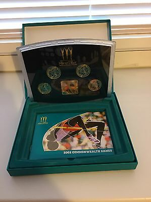 2002  Royal Mint Commonwealth Games Four Two Pound  Coin Proof Set
