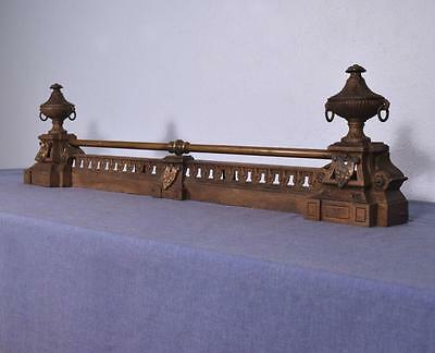 *Antique French Neoclassical Iron and Bronze Chenet Andirons Fireplace