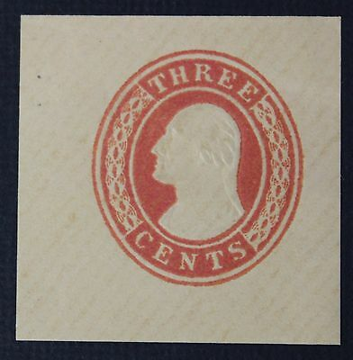 CKStamps: US Cut Square Stamps Collection Scott#U4 Unused NH NG Diagonally Paper