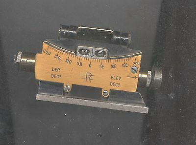 Wwi Vickers Artillery Gun Clinometer Sight Marker 1918 A Kershaw & Sons Boxed