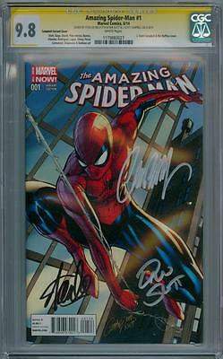 AMAZING SPIDER-MAN #1 CGC 9.8 SIGNATURE SERIES SIGNED x3 STAN LEE SLOTT CAMPBELL