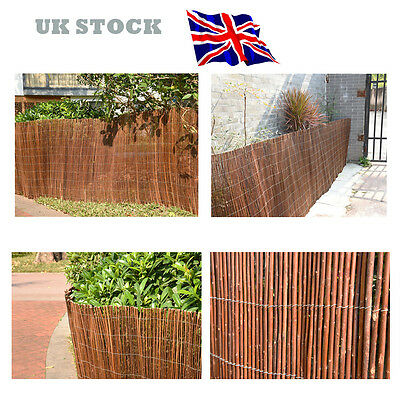 Willow Screening Roll Screen Fencing Wooden Garden Fence Panel 4m Long UK STOCK
