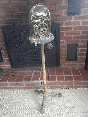 C.M. Sorensen Co Inc. ANTIQUE MEDICAL PUMP on original stand with dome cover