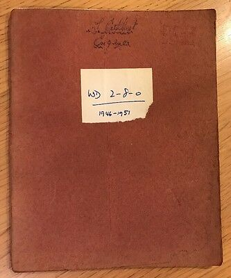 1946-1951  Train Spotters Log Book Eastleigh Brighton Railwayana