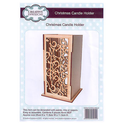 Creative Expressions MDF - Festive Collection - Christmas Candle Holder