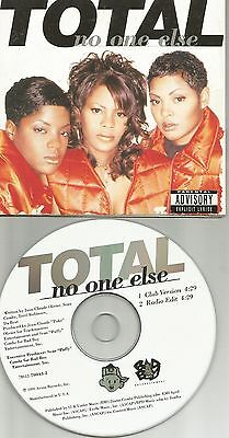 TOTAL No One Else 2TRX w/ CLUB VERSION & RADIO EDIT LIMITED USA CD single 1995