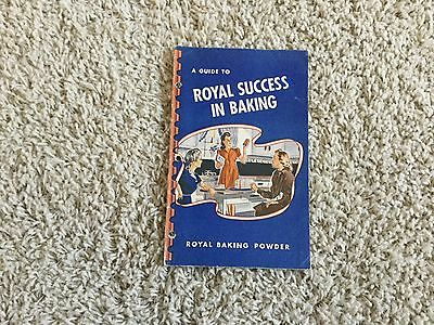 A Guide To Royal Success In Baking Cookbook booklet 1944 Baking Powder Recipes