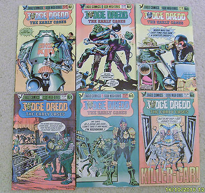 Judge Dredd The Early Cases #1-6 COMPLETE ~ 1986 Eagle Comics