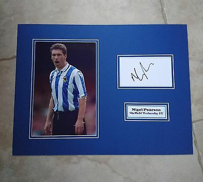 Nigel Pearson - Sheffield Wednesday Fc - Signed Photo Mount