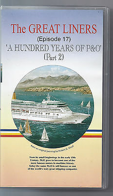 """GREAT LINERS Episode 17 """"100 Years of P&O"""" Part 2. VHS Video Excellent Condition"""