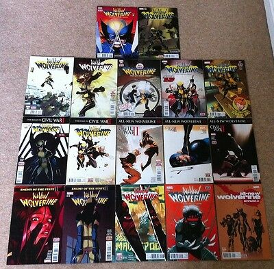 All New Wolverine 1+2+3+4+5+6+7+8+9+10+11+12+13+14+15+16 + Annual 1