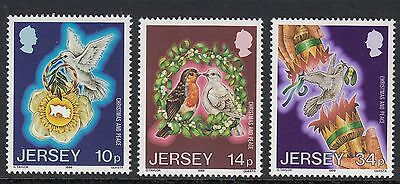 Jersey 1986 Christmas  Set  Sg 402-404   Unmounted Mint