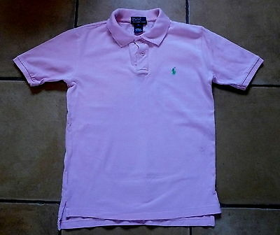 Polo By Ralph Lauren ! Age 7 Yrs ! Lovely Pink Polo Shirt ! Vgc