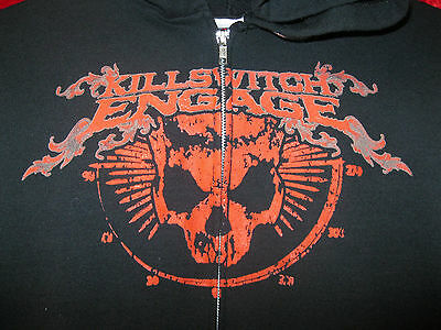 Killswitch Engage Authentic Early 200? Skull Concert Tour Zip Up Hoodie Sm Hoody