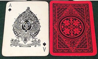 ANTIQUE c1900  GOODALL * GEOMETRIC FLOWERS * WIDE  PLAYING CARDS   Free UK Post