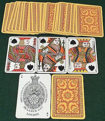 ANTIQUE 1890s  DE LA RUE  ** BUDDING FLOWERS **  WIDE PLAYING CARDS  Small Index