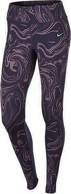 New Women's Nike Power Epic Lux Printed Long Running Fitness Tights Size Small