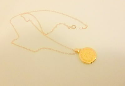 """14 K Solid Gold Chain with 16 mm Mayan Calendar pendant 20 """""""