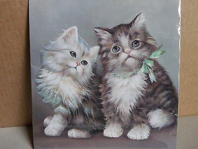 Yung Hsin Furry Kittens Cats (12) Note Paper Sheets Stationery (6) Envelopes New