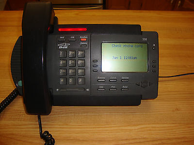 One Vintage Charcoal Vista 350 Desk Telephone Made In Canada