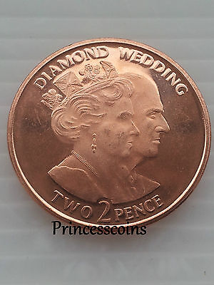 Extremely Rare 2007*unc*gibraltar Diamond Wedding 2 Pence Coin Limited Edition
