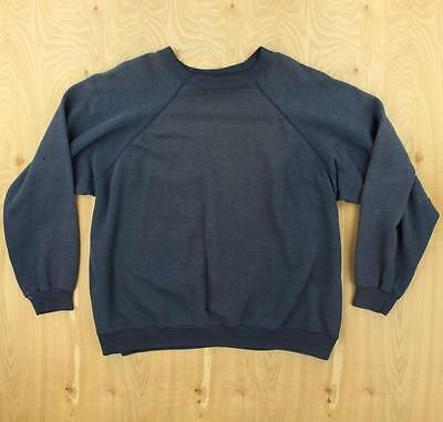 vtg usa made faded & distressed 80's raglan sweatshirt XL hanes thin boxy soft