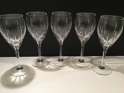 Set of 5 SONATA Wine Glasses by EDINBURGH CRYSTAL - Excellent condition