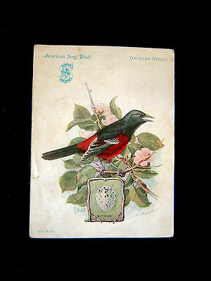 Victorian Card=Singer Sewing Machine=ORCHARD ORIOLE=American Song Bird