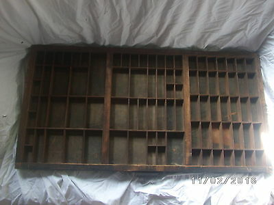 Antique Vintage Printers Hamilton Tray Drawer Shadowbox Display (E)