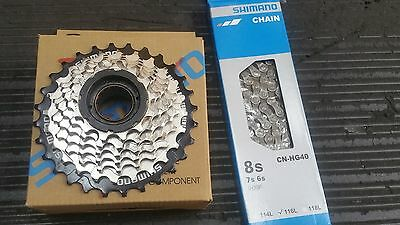 Shimano MF-HG37 13/ 28 T 7 speed freewheel cluster with CN-HG40 chain