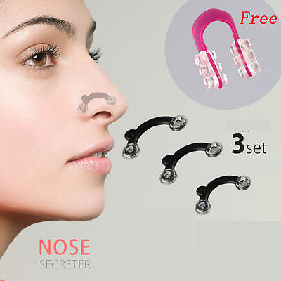 POP 1Set 3Sizes Nose Up Lifting Shaping Clip Clipper Tool +PC Red Nose Up Shaper