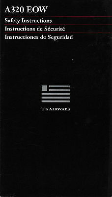 Us Airways - Safety Card - Airbus A-320 Eow - 7/98