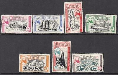 GB Lundy Island Local Post Labbe #93-99 mint Pictorial set 1954 cv $15