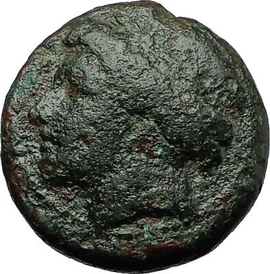 AIGOSPOTAMOI in THRACE 300BC Demeter Goat Authentic Ancient Greek Coin i59257