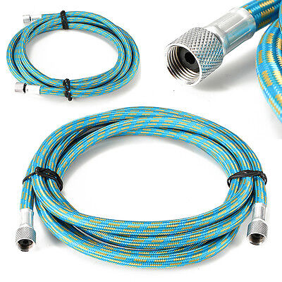"""1.8M Braided Airbrush Compressor Air Hose 1/8"""" to 1/8"""" Adaptor Fitting Connector"""