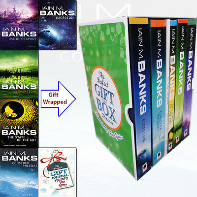 Iain M Banks Excession 5 Books Collection Gift Wrapped Slipcase With journal NEW