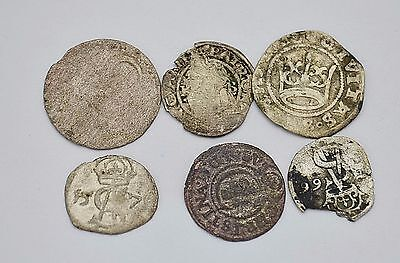 Mixed lot of medieval European silver coins 15-17 century