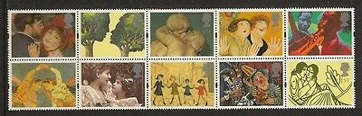 """GB Stamps: 1995"""" Greetings In Art"""" SG 1858a."""