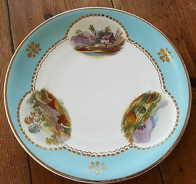 Antique Aynsleys / Aynsley Hand Painted Plate - Landscapes