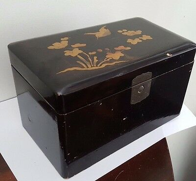 Antique Japanese Lacquer Tea Caddy