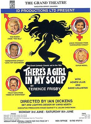 THERE'S A GIRL IN MY SOUP JACK SMETHURST TONY SCANNELL Theatre Flyer Handbill