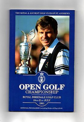 1991 Royal Birkdale British Open Golf Championship  Official Programme POST FREE
