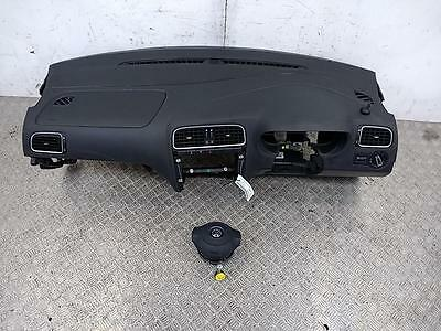 2009-2014 VOLKSWAGEN POLO 6R Hatch Drivers Passengers Airbag Kit + Dashboard