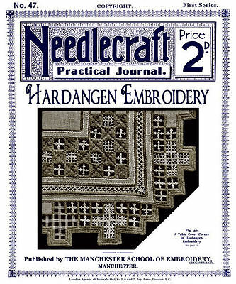 Needlecraft Practical Journal #47 c.1905 Hardanger Embroidery Book