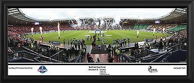 "SPFL Betfred 2016 Cup Final 30"" Premium Panoramic Frame"