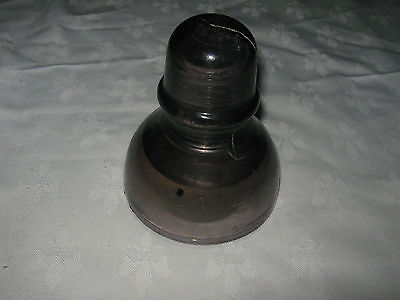 A Large Vintage Purple Amethyst Glass Electrical Bell Shaped Insulator
