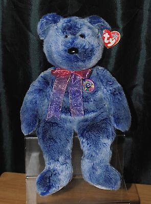 Ty Beanie Buddies 14 Inch Periwinkle The Bear Soft / Plush Toy